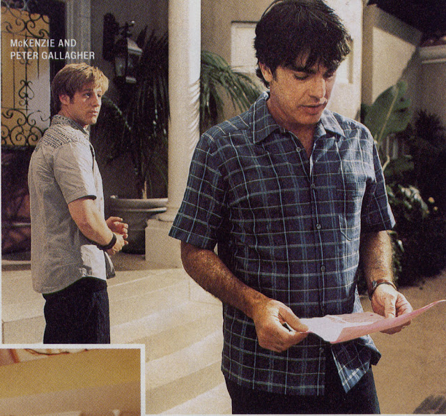 peter gallagher and benjamin mckenzie behind the scenes script the oc
