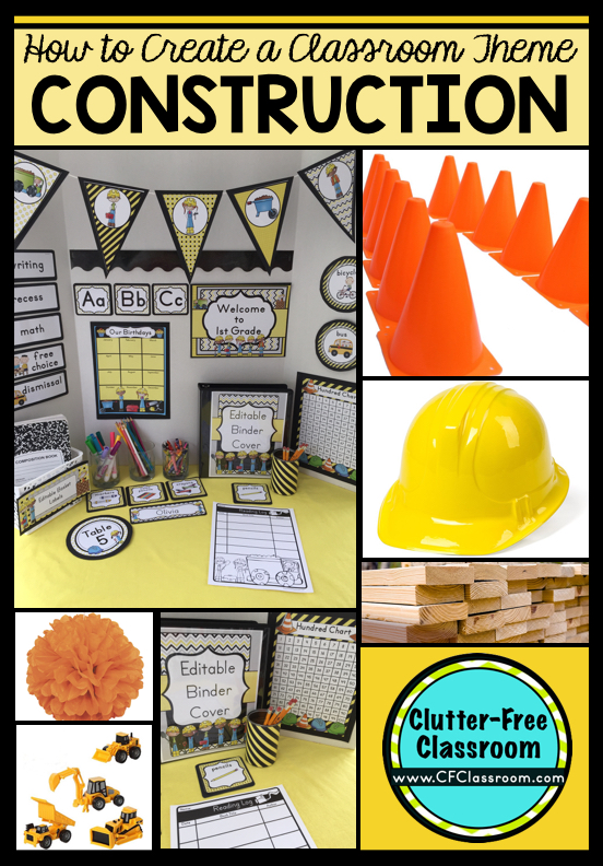 Construction themed classroom ideas printable for Website decoration