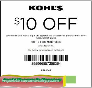 Free Printable Kohls Coupons