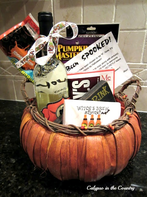"Halloween Treat Basket - Tips to ""spook"" your neighbors"