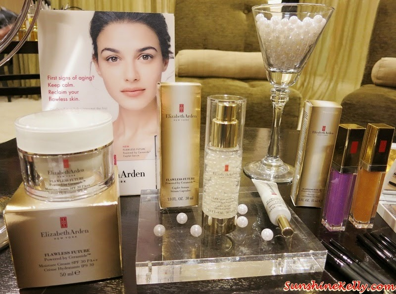 Elizabeth Arden Flawless Future Powered by Ceramide, Caplet Serum, Moisture Cream SPF30, Non-SPF, Eye Gel, Elizabeth Arden