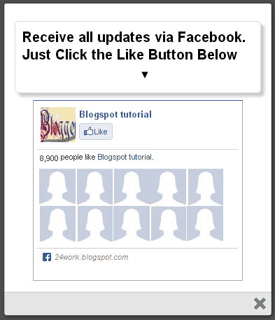 Add a Awesome jQuery Pop-Up For Facebook Like Box