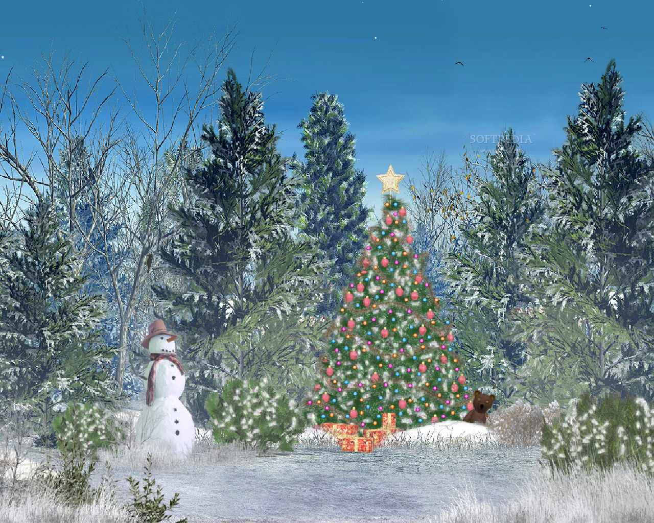 Animated Christmas Desktop Background