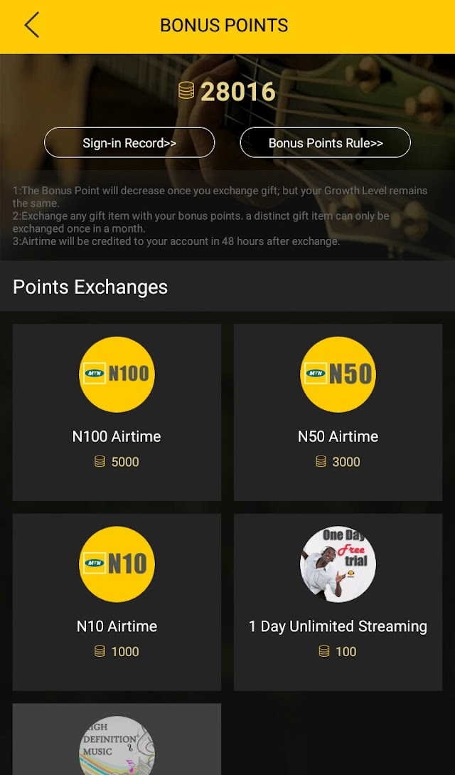 Get Free Airtime On MTN Network With Music Plus