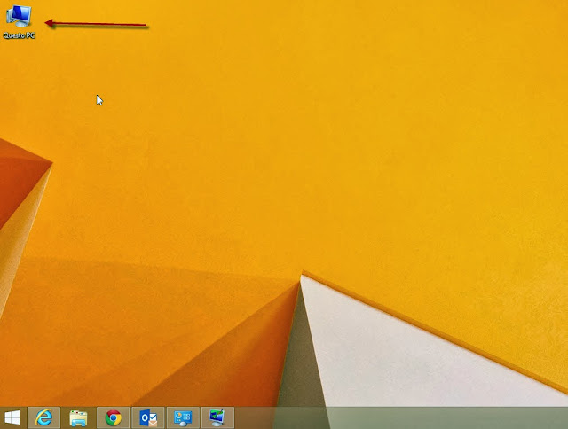 Icona Questo PC (Computer) sul desktop - Windows 8.1