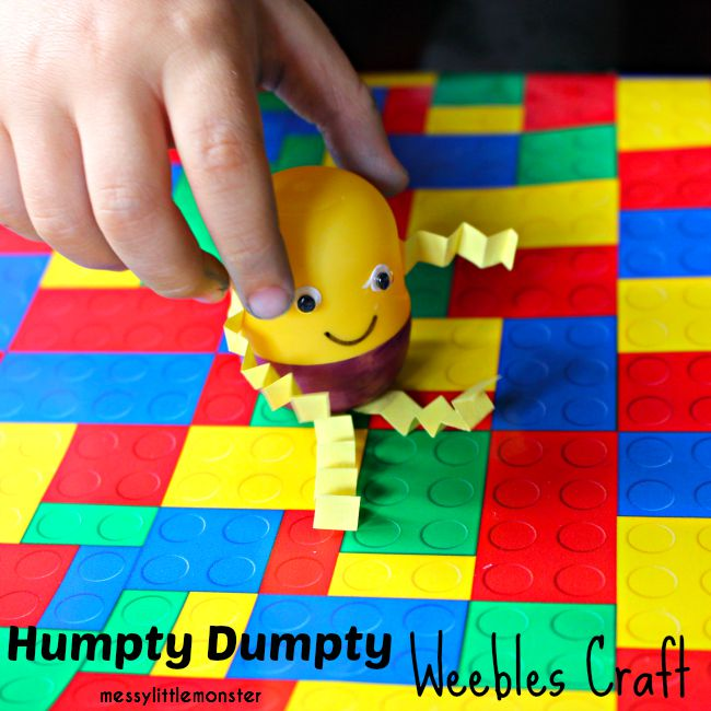 Humpty Dumpty Plastic Egg Weebles Craft