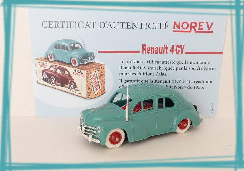 Garage De Poche Jipé Renault 4cv Norev