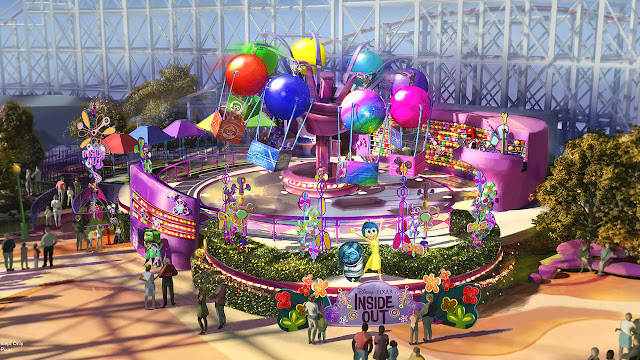 Inside Out Emotional Whirlwind Disney California Adventure Park