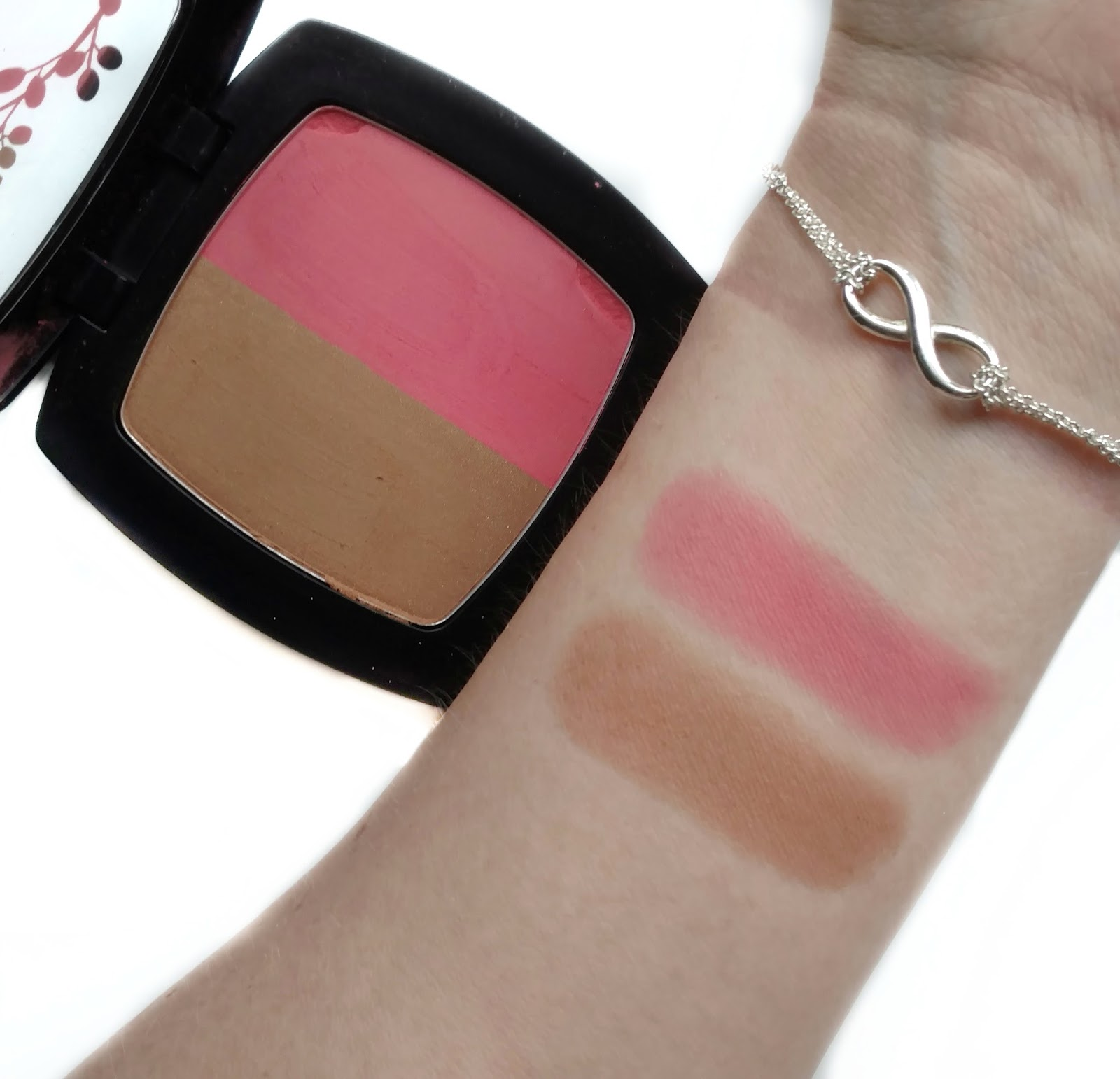 nuance salma hayek blush bronzer duo swatches