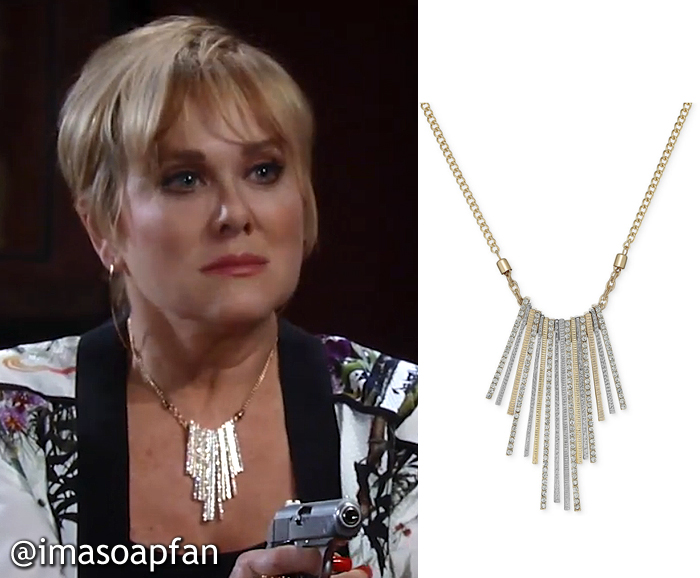 Olivia Jerome, Tonja Walker, Crystal Stick Statement Necklace, GH, General Hospital