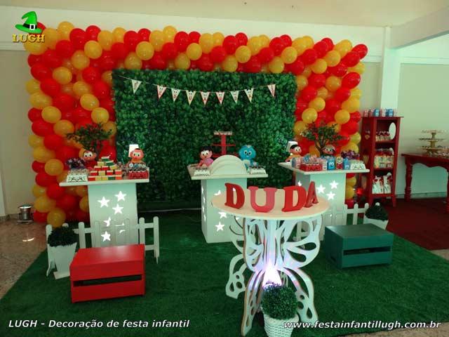 Mesa provençal Turma da Mônica para festa de aniversário feminino