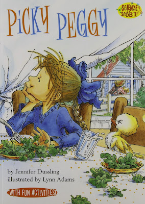 Picky Peggy, part of children's book review list about picky eaters