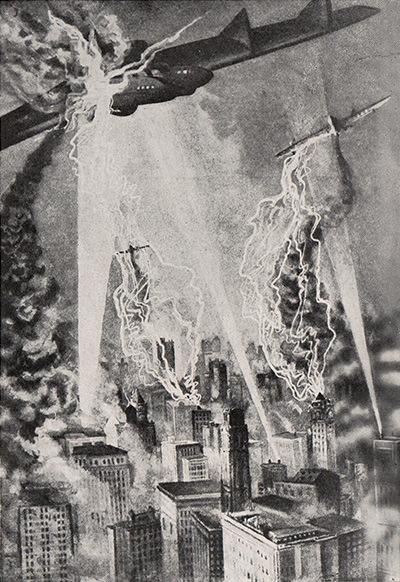 Rayos de la muerte japoneses atacando a bombarderos