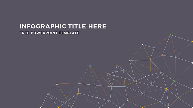 Infographic Linear Apstract Background and Title Free PowerPoint Template Slide 4