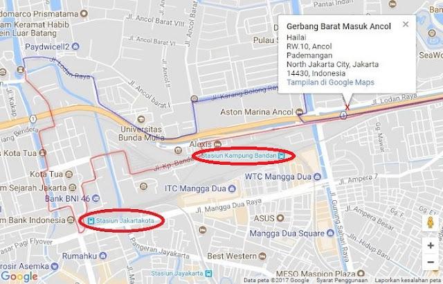 Cara Naik Kereta KRL ke Dufan - Ancol