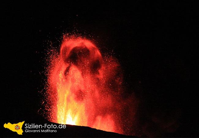 Vulkanausbruch des Vulkan Ätna am 23.07.2011
