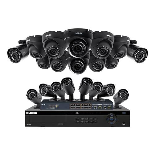 Lorex, HDIP321010DW 32-Channel NVR Security System with 20 2K Color Night Vision IP Cameras