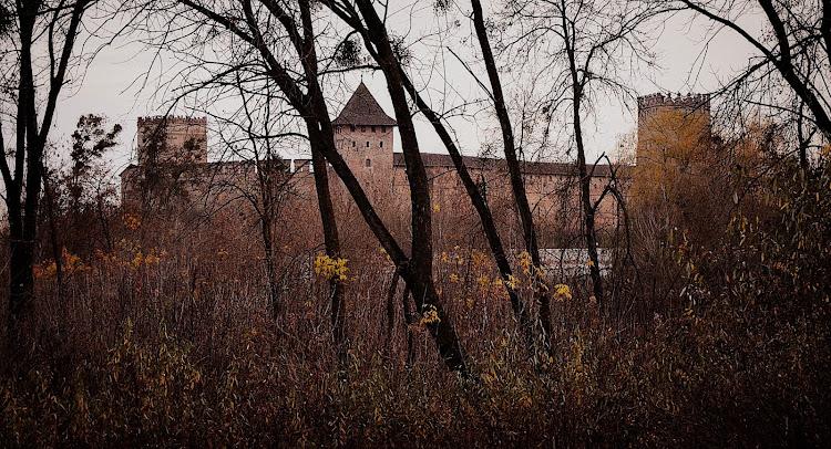 Замок Любарта, вид со стороны парка