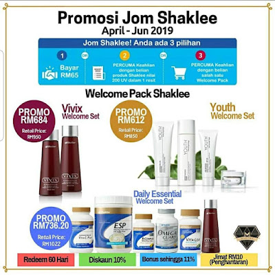 PROMO WELCOME PACK SHAKLEE APRIL-JUN 2019