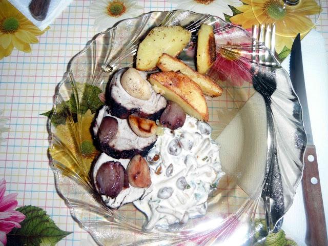 Muschiulet de porc cu sos ghebe - Livrari la Domiciliu Bucuresti / Catering Mari Cuisine