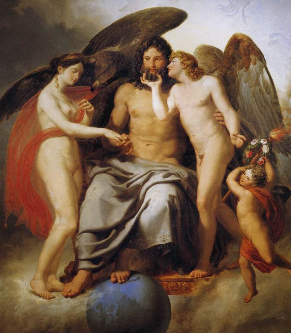 Psyche, Zeus and Eros.