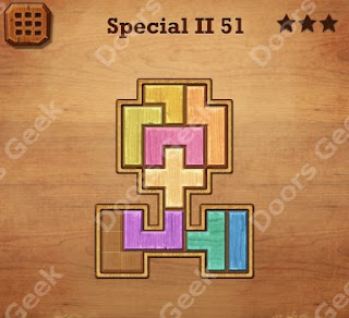 Cheats, Solutions, Walkthrough for Wood Block Puzzle Special II Level 51
