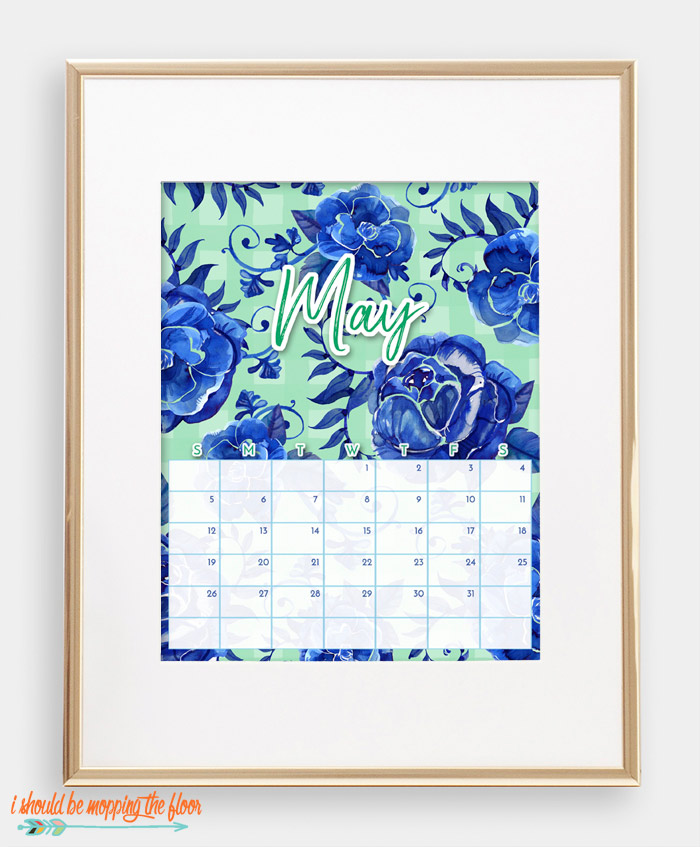 May Chinoiserie Calendar