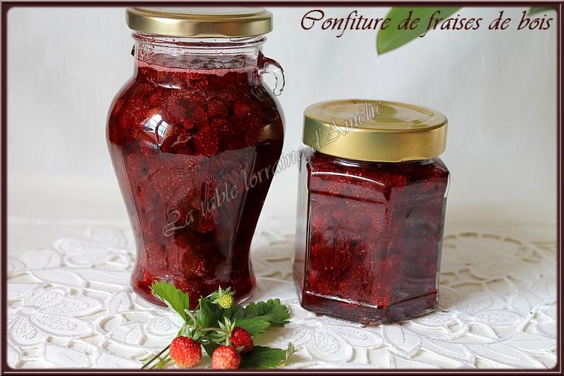 confiture de fraise des bois