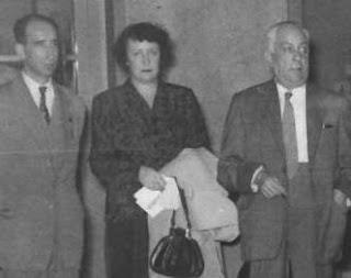 Doménech y Bassols con su esposa