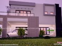 Modern House Design Side View