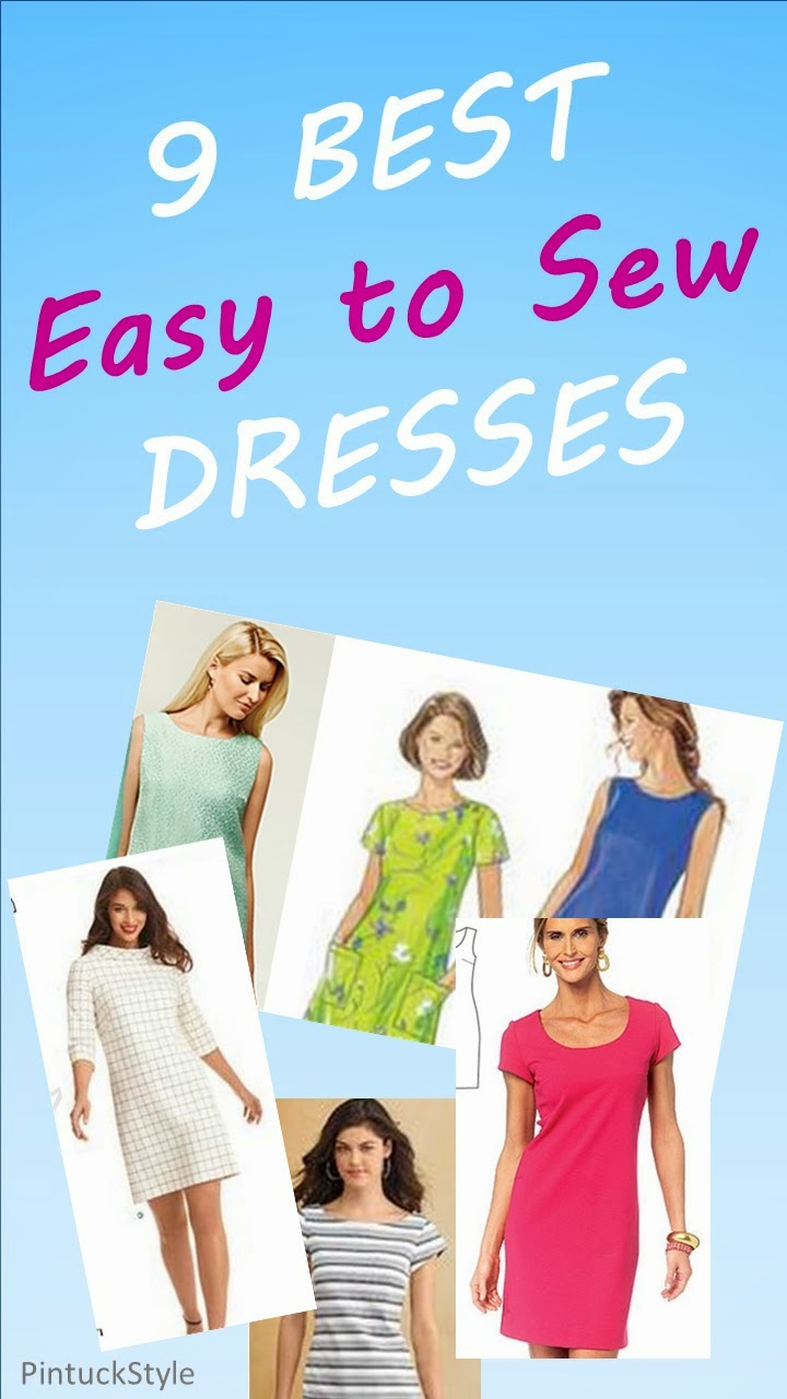 Pintucks: 6 Best Dress Patterns for Beginners: Easy to Sew