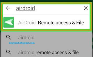 Pencarian Aplikasi Airdroid Di Playstore