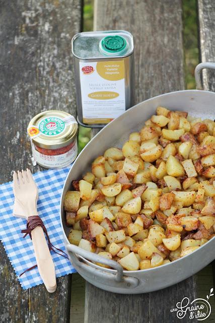 Pommes de terre sautées Délicatesse Drôme Piment Espelette
