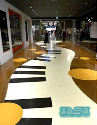 artistic 3d hallway flooring at mall corridors