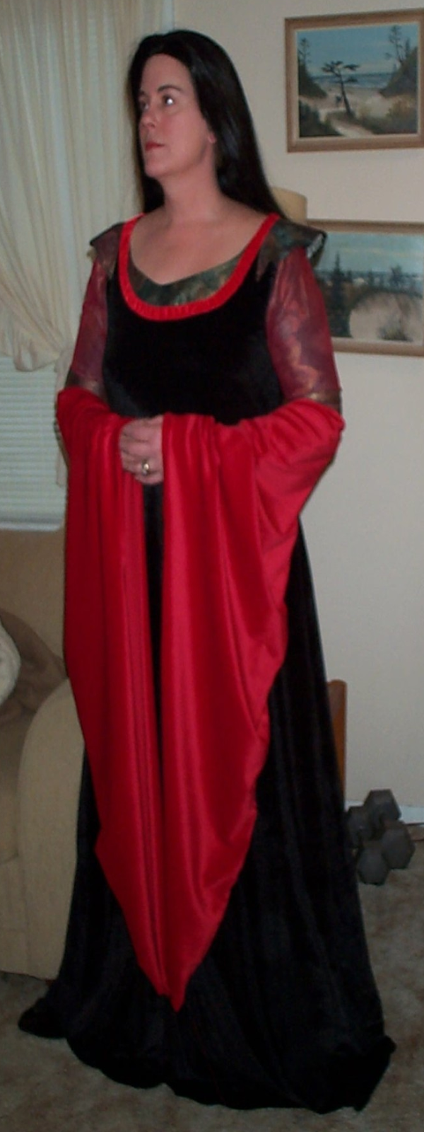 Arwen's Blood Red Gown by Donna