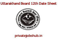 Uttarakhand Board 12th Date Sheet