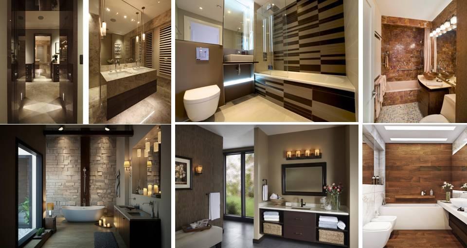 30 Contemporary Brown Bathroom Designs