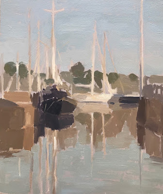 #192 'Morning Reflections, Ile de Re' 18x21cm