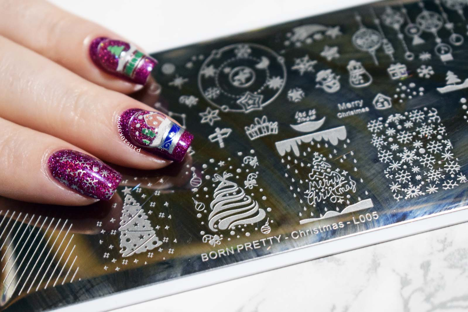 1b5bd95a Born Pretty Store Christmas L005 Stamping Plate
