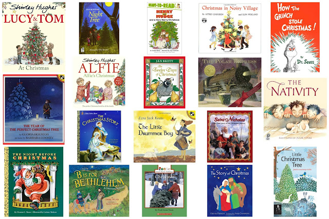 Montessori friendly Christmas books for children