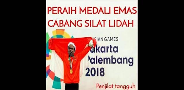 Aneh, Beredar Meme Ngabalin Dapat Medali Emas Cabang Silat Lidah