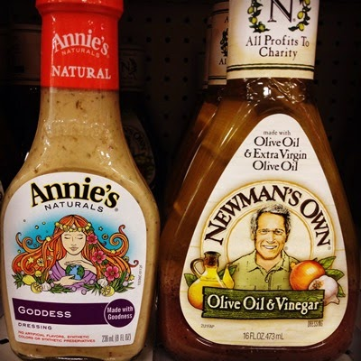 Vegan Vegetarian Food Target Annie's Goddess Dressing and Newman's Own Olive Oil & Vinegar Salad Dressing