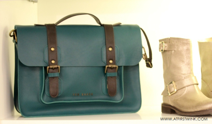 Ted Baker forest green satchel