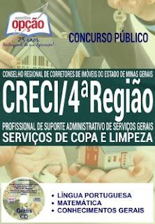 Apostila Creci-MG 4 Região - Serviços de Copa e Limpeza.