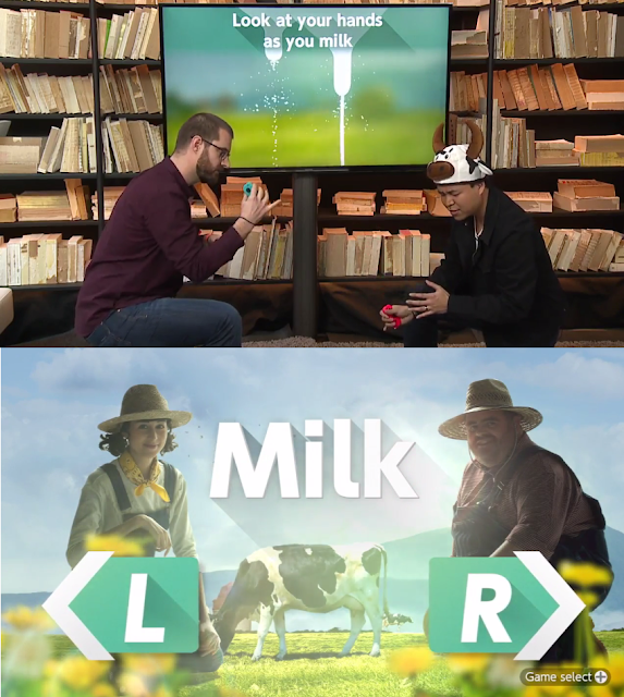 1-2-Switch Milk game cow Nintendo Treehouse Live JC Rodrigo hat
