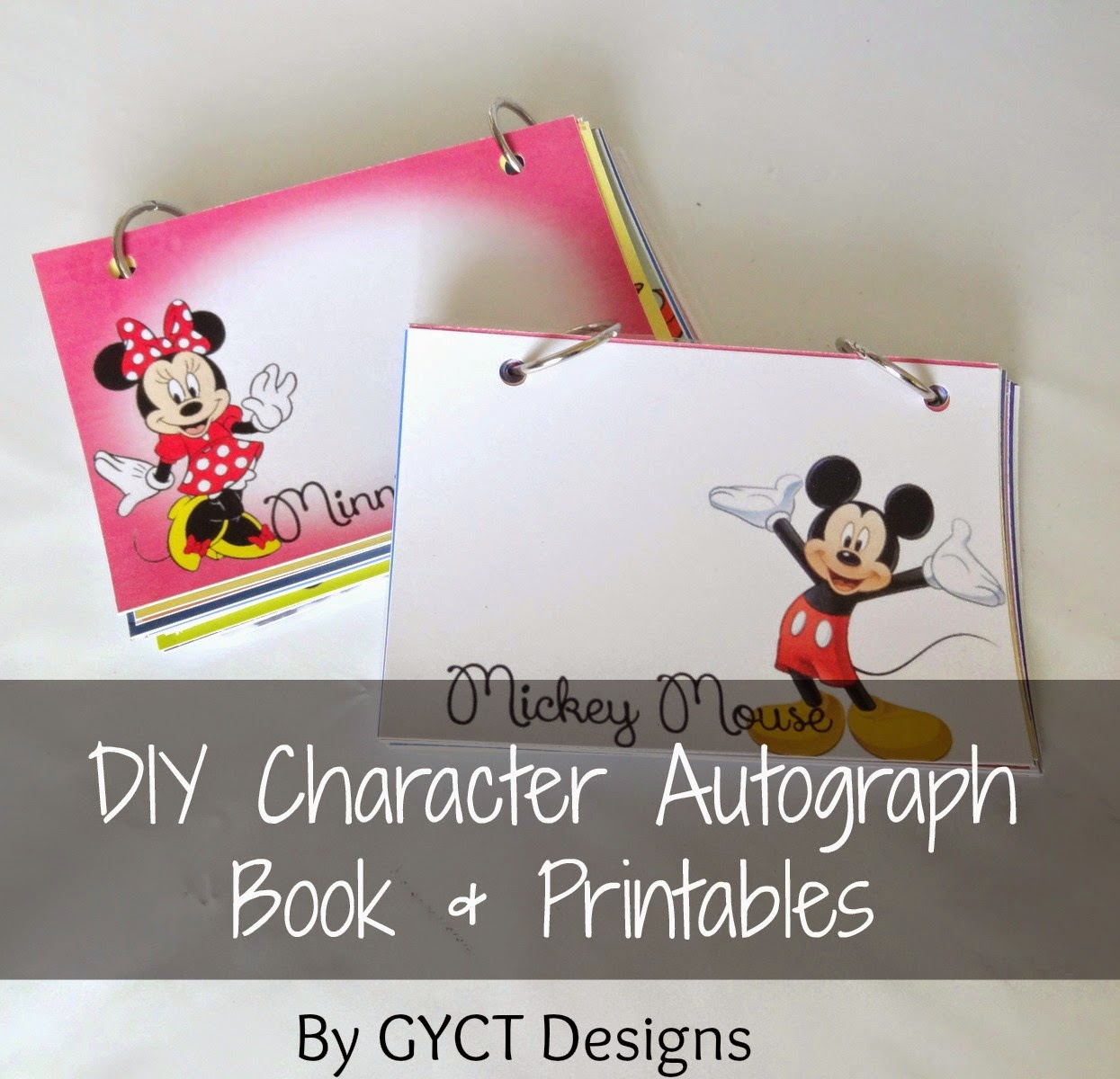 DIY Disney Autograph Book and Printables - GYCT Designs