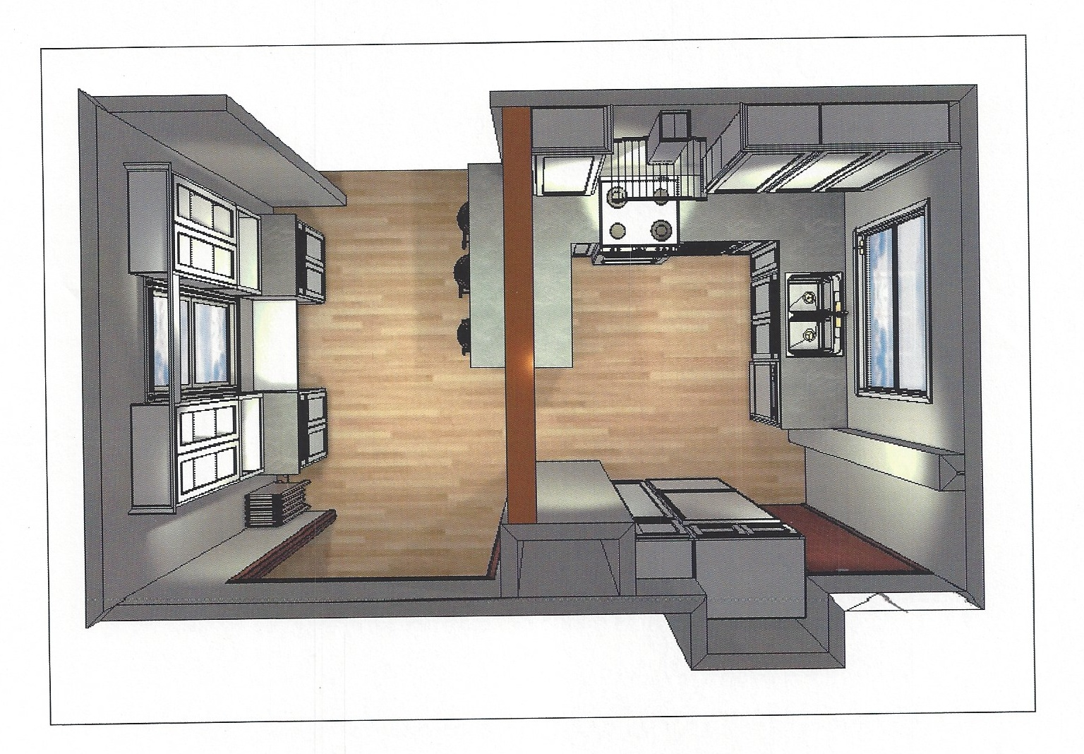 SoPo Cottage: New Englander - Small U Shaped Styles Design - 10 By 10 U Shaped Kitchen Design