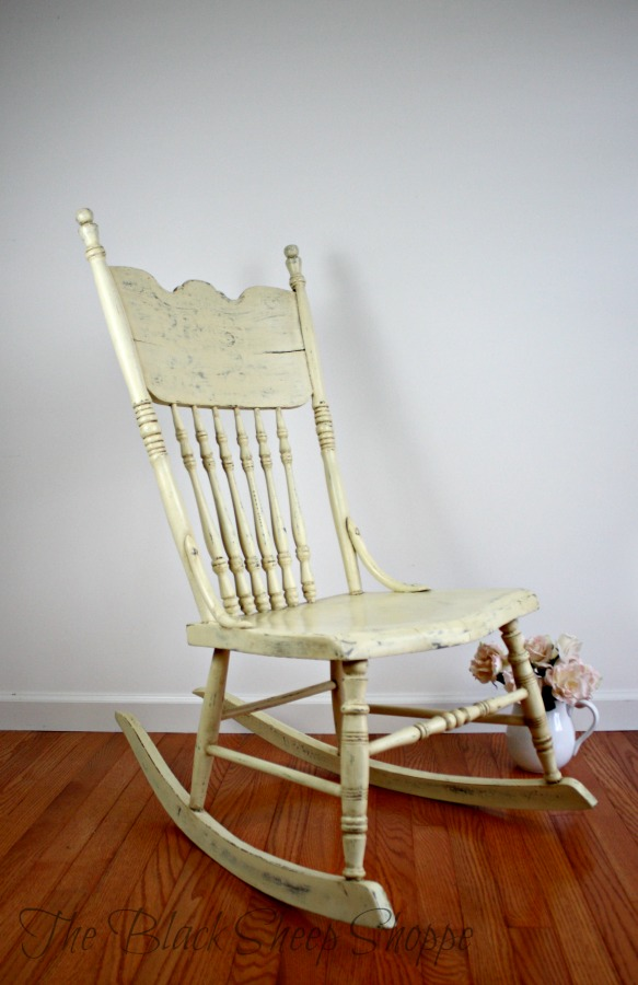 Rocking chair painted in Cream Chalk Paint.