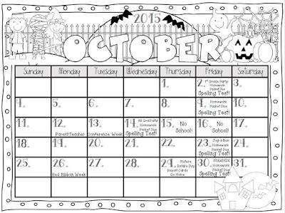 Teaching With Terhune: Editable Monthly Calendars