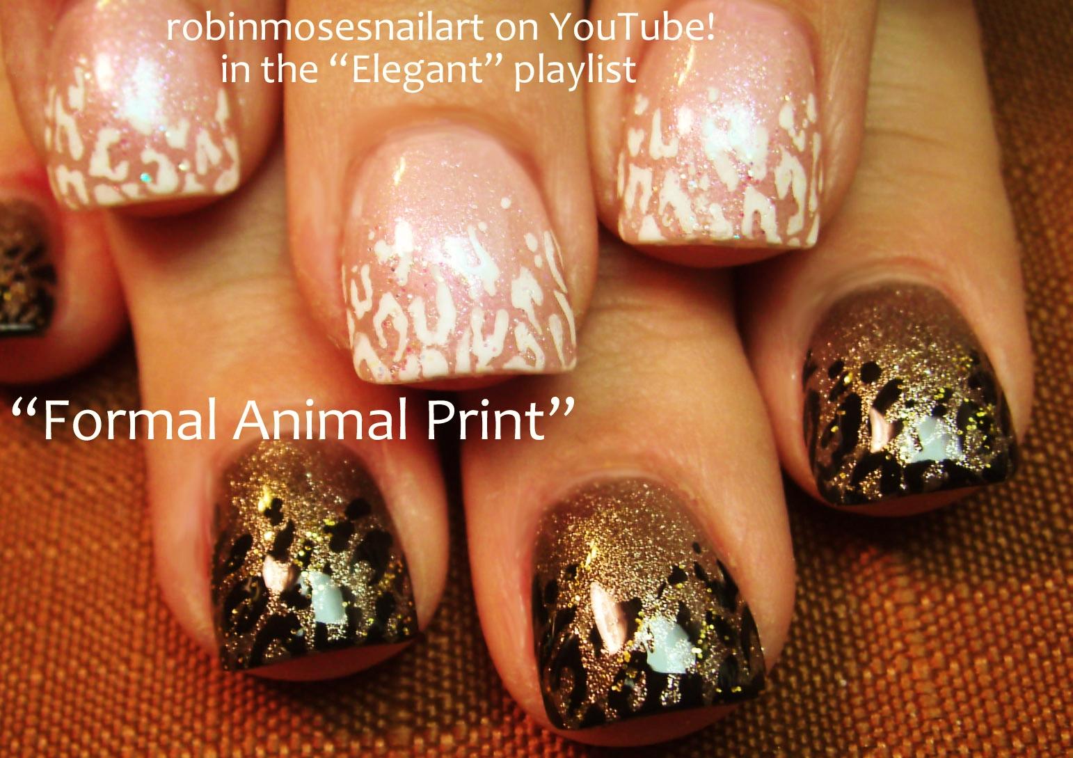 wedding animal print nails, 2 designs in 1 nails, nail art for ...